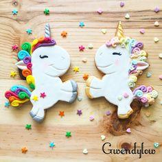 Galletas de Unicornios Arcoiris