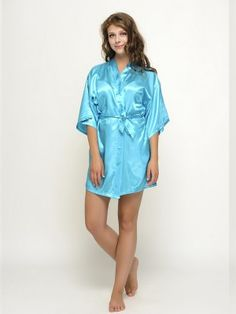 Satin Robes Turquoise Bridesmaid Robes Bride Robes