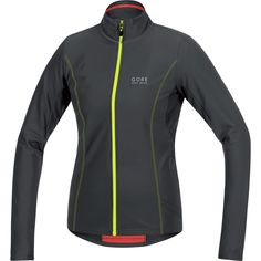 GORE BIKE WEAR Women's Thermal Cycling Jersey, Long Sleeved, GORE Selected Fabrics, ELEMENT LADY Thermo Jersey, Size 36, Black/Neon Yellow, SELETL. Warm women's thermal cycling jersey for the recreational cyclist (mountainbike and road cycling) on cycling tours with friends, Optimal for short distances, Comfort fit - Always cutting a good figure. Ideal for winter, Rapid wicking thanks to thermo-stretch functional material, Quick drying and extremely breathable thanks to GORE Selected…