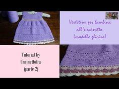 YouTube Crochet Girls, Crochet For Kids, Crochet Baby, Toddler Dress, Baby Dress, Knitting Videos, Working With Children, Girl Gifs, Baby Knitting