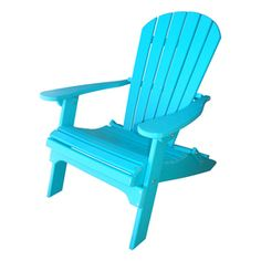 Phat Tommy Teal Recycled Poly Folding Patio Adirondack Chair 701-Adiro