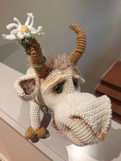 Billy Goat by Ermak Elena - I have made him with love, he is so stunning, thank you for sharing your patterns with the rest of the world, Elena! Crochet Animals, Goats, Dinosaur Stuffed Animal, Rest, Christmas Ornaments, Patterns, Holiday Decor, Diy, Home Decor