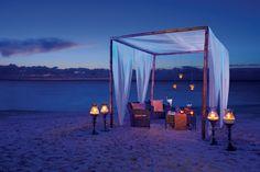 Beach Front Dinner at the Secrets Capri Resort #sp