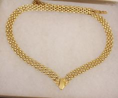 Vintage Thick Gold Chain Necklace by Avon Gold by DesignzByRuth, $55.00