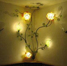 Luminárias artesanais da Lampa Dani com inspiração Art Nouveau.    http://irresistiveis.com.br/as-criativas-luminarias-artesanais-da-lampa-dani/
