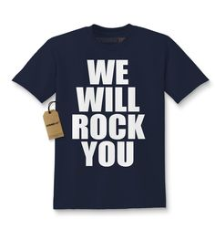 Kids We will Rock You T-Shirt X-Small Navy Blue