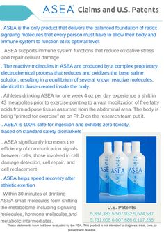 Is ASEA just salt and water?  Would the US government give multiple patents if it was just a solution that you could mix up in your kitchen??? I don't t... - Shannon Lemos - Google+