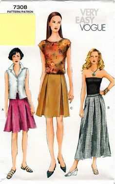 Very Easy UNCUT Vogue Pattern 7308  Misses by AllThingsVogue