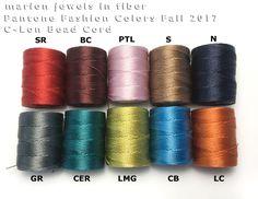 C-Lon Bead Cord Colors/Pantone Colors Fall 2017