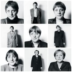 "Herlinde Koelbl has been photographing Merkel since 1991. Koelbl says that Merkel has always been ""a bit awkward,"" but ""you could feel her strength at the beginning."""