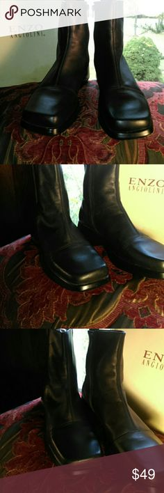 New Enzo Angolini Leather Ankle Boots Espresso 11 New/vintage never worn pair of dark brown/espresso ankle booties. Zip up on inside of the ankles for easy on and off. So comfy. You will love them 💜💙 **MAKE ME AN OFFER** Enzo Angolini Shoes Ankle Boots & Booties