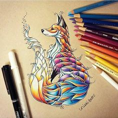 Colourful Fox
