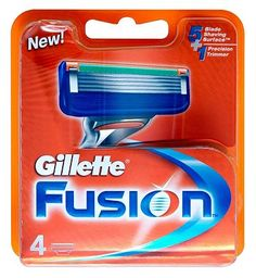 Gillette Fusion Razor Blades 4 Pack 10055096 44 Advantage card points. Gillette Fusion Razor Blades give you the comfort of five with the precision of one. The Gillette Fusion Blades have five blades spaced closer together to help reduce pressur http://www.MightGet.com/february-2017-1/gillette-fusion-razor-blades-4-pack-10055096.asp
