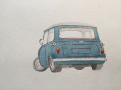 austin mini cooper s illustrarion.naoto okubo. canalsavoy