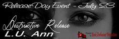 Renee Entress's Blog: [Release Day Event & Giveaway] Destructive Release... http://reneeentress.blogspot.com/2014/07/release-day-event-giveaway-destructive.html