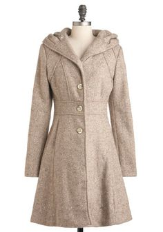 Something to Groove Coat, #ModCloth - the design of this coat is perfect. Why does it have to have wool in the fabric blend? SAD.