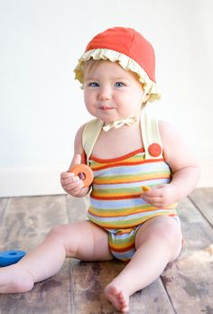 cherry/butter reversible organic sun hat from Pink Olive - $32.00