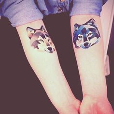 Beautiful wolf tattoo! I need this!!