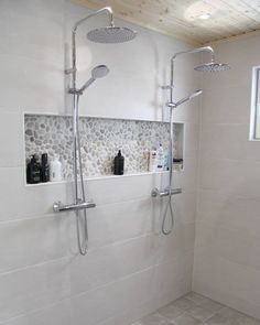 Bathroom Inspiration, Shower Niche, Bathroom Furniture, Bathrooms Remodel, Laundry In Bathroom, Bathroom Toilets, Bathroom Design, Beautiful Houses Interior, Inside A House