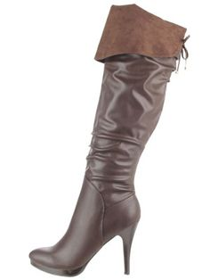 Heeled boots are considerably easier (and warmer) to walk in than regular stilettos!