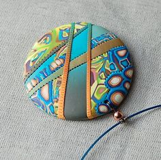polymer clay pendant