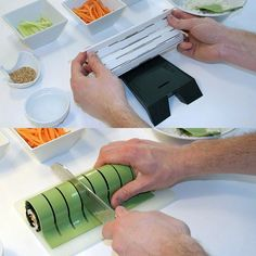 Great idea for cutting sushi up - 33 Creative Kitchen Gadgets - Click Pic