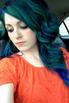 Make the color chunks bigger and add white as a 3rd color and this is what I'm doing to my hair <3