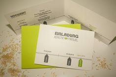Einladungskarte Hochzeit - Zeitstrahl  von Mazet Design auf DaWanda.com