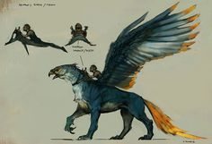 Vance Kovacs. In griffins but the saddle is a lot closer to what I see used on my dragons. You don't want to be sitting up on the back of any flying mount as it dives.