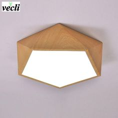 Geometric LED wood effect ceiling light Indoor Lighting Fixtures, Ceiling Lights, Ceiling, Wooden Ceilings, Bathroom Ceiling Light, Led Ceiling Lamp, Light, Roof Light, Clinic Design