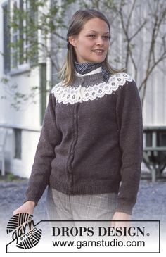 Ravelry: Cardigan in Karisma Superwash and Angora-Tweed. Scarf in Angora-Tweed. pattern by DROPS design Drops Design, Knitting Patterns Free, Free Knitting, Free Pattern, Crochet Patterns, Angora, Tweed, Magazine Drops, Icelandic Sweaters