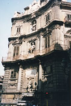 Four Corners (Quattro Canti) in downtown Palermo