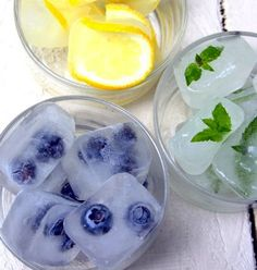 Cute ice cube ideas!