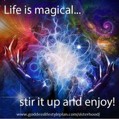Need the recipe for living a magical life? The Goddess Lifestyle Plan Sisterhood Circle will provide inspiration, tips, sacred activities and a Sisterhood Circle of support. www.goddesslifestyleplan.com/sisterhood