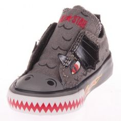 These Converse Toddler Chuck Taylor shoes are adorable and cool! What little boy doesn't want a dragon shoe!? It is the traditional Converse Toddler Simple Slip with a fiery twist and look at those teeth! Perfect for the dragon loving young boy in your family!
