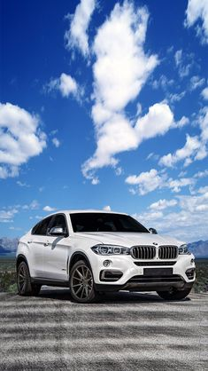2015 white BMW X6 on Vossen VFS-1 matte graphite wheels (fan art)