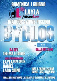 L'estate sta arrivando e apre la sala piscina del #Byblos #Riccione