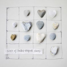 Heart-shaped rock collection by Wild Goose Chase on Flickr