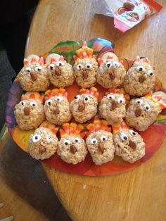 Created by my sweet nieces. Turkey rice crispy treats.