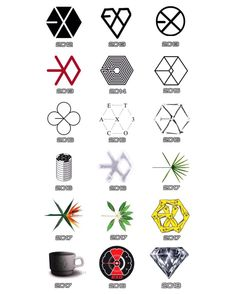 Q:In what Year/Era did you become EXO-L? [ EXO logos from . Kpop Exo, Exo Ot12, Exo Chanyeol, Chanbaek, Exo Chen, Kaisoo, Shinee, Exo Stickers, Band Stickers