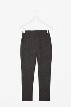 Speckled melange trousers