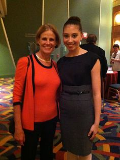 Miranda with Merrill Ashley outside Whitaker Center, 4th year at CPYB, post Giselle performance.