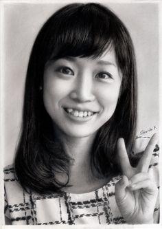 Kanako Awashima pencil drawing