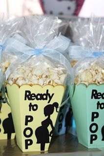 Cute baby shower treat- Esp since popcorn is my fav!!!