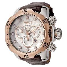 #Invicta Men's 0359 Reserve Collection Venom Chronograph Brown Leather Watch
