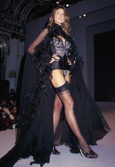 Vintage photo of Heidi Klum in 1997 for Victoria's Secret Fashion Show