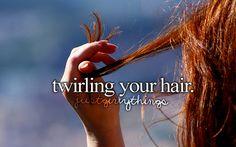 Twirling.