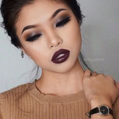 So beautiful #makeup inspiration for Asian puffy eyelid eyes beauty by gg_luxious.
