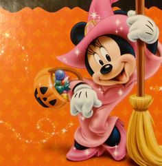 Minnie Witch .....still cute. #Disney Disney Halloween, Minnie Mouse Halloween, Mickey Halloween Party, Scary Halloween, Happy Halloween, Halloween Cartoons, Mickey Mouse Y Amigos, Minnie Y Mickey Mouse, Mickey Mouse And Friends