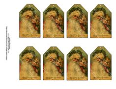 victorian christmas tags | Christmas Gift Tags. Victorian Santa Claus with Victorian Child ...
